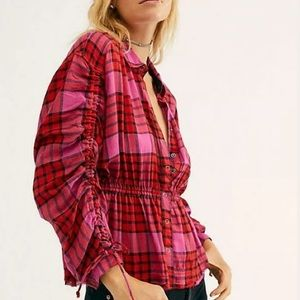 Free people pacific dawn relaxed button down top